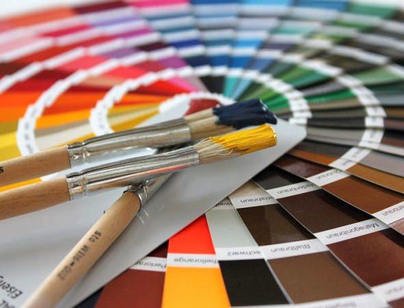 Eine Farbpalette