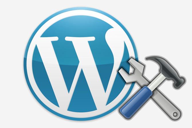 WordPress Logo mit Werkzeug
